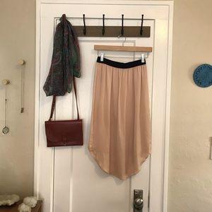 Club Monaco Light Pink Peach Silk Pencil Skirt XS